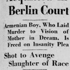 Talaat Pasha foi assassinado em Berlim no dia 15 de março de 1921
