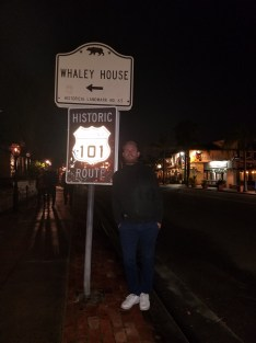 Historic Route 101 next to Americas #1 certified Haunted House, the Whaley House.