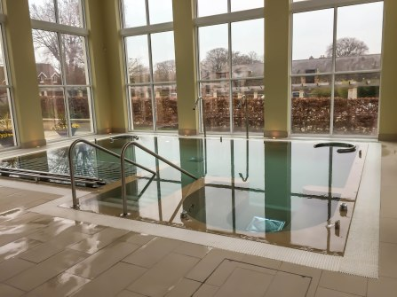 A photograph of the hydrotherapy pool