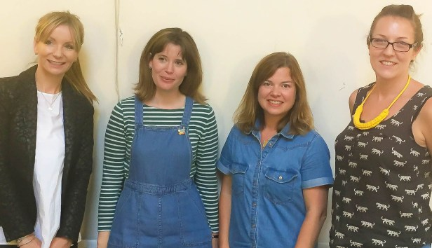 A photograph of Helen, Lizzie, Emma and Emily.