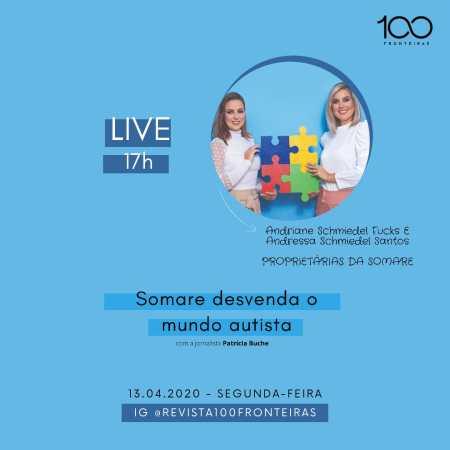 Andriane Schmiedel Fucks e Andressa Schmiedel Santos da Clínica Somare na Live 100fronteiras de segunda-feira(13).