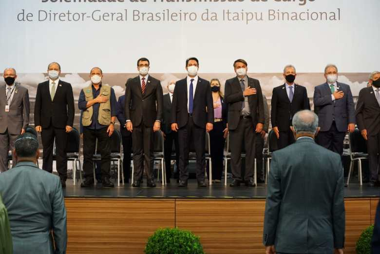Bolsonaro e autoridades