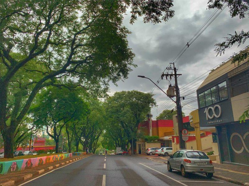 Avenida JK, centro de Foz do Iguaçu