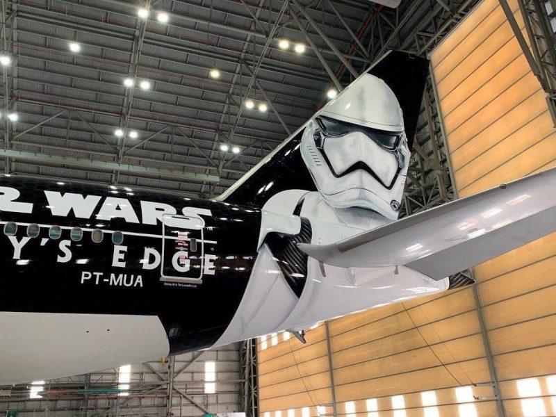 Avião do Star Wars/Foto: Reprodução Aeronáutica do Paraguai.