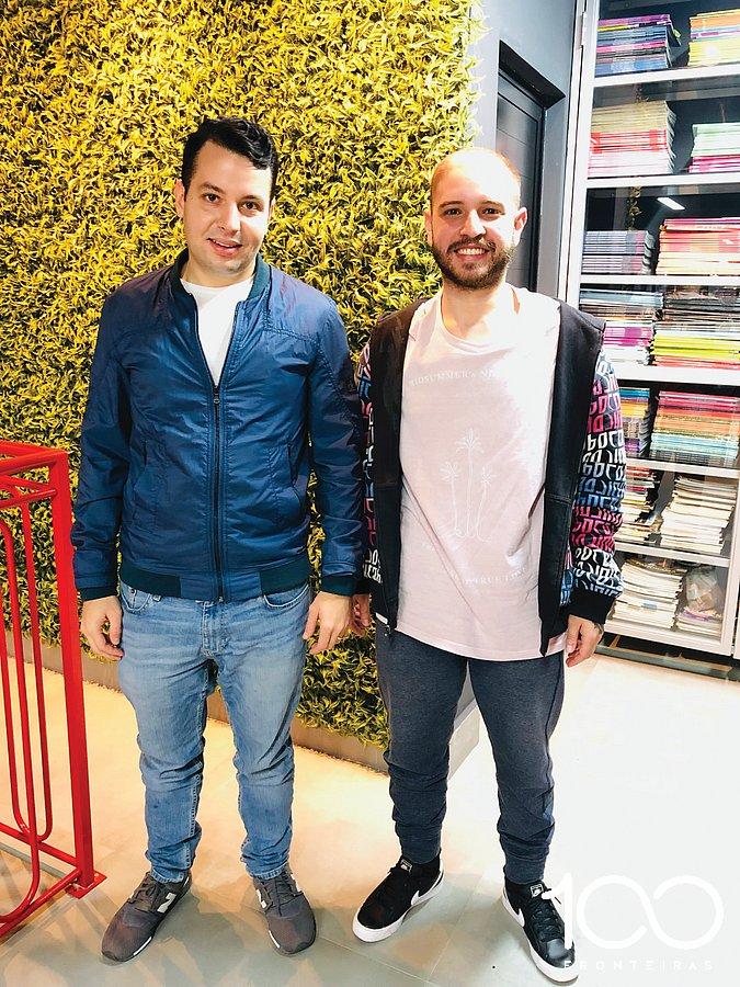 Denys Grellmann e Vitor Vilani, empresário