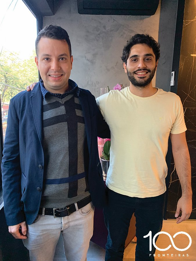 Denys Grellmann eo empresário Omar Chahin