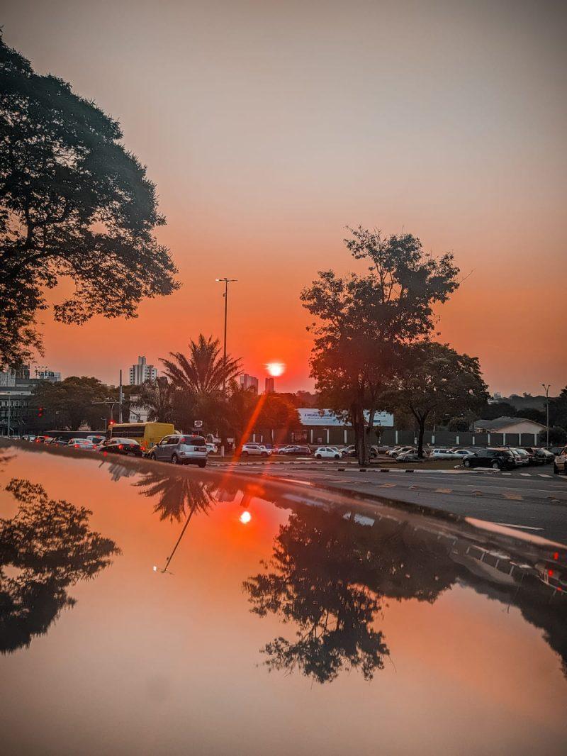 Por do sol em Foz do Iguaçu