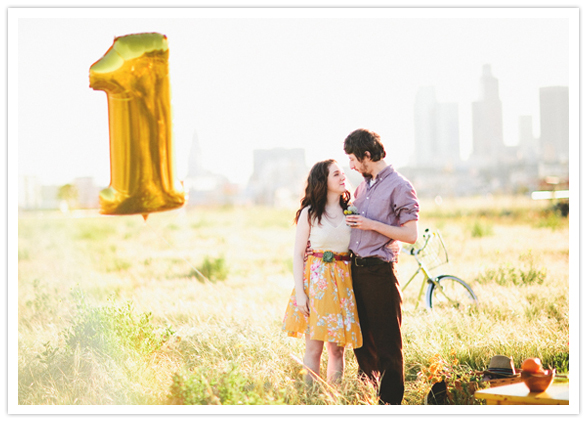 Colorful First Anniversary Shoot