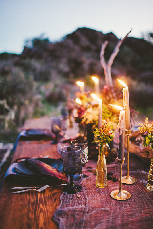 Bohemian Wedding Desert Wedding Inspiration 100 Layer Cake