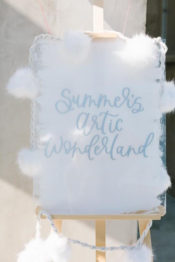 All white arctic wonderland 7th birthday party