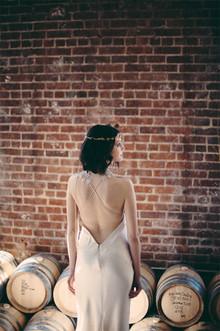 Vestido de noiva moderna industrial