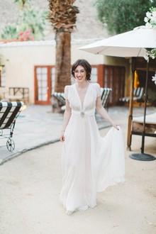 Vestido de casamento do vintage