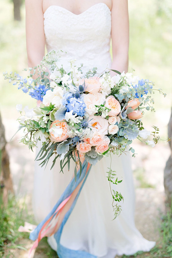 Pink And Blue Bridal Bouquet Wedding Amp Party Ideas 100