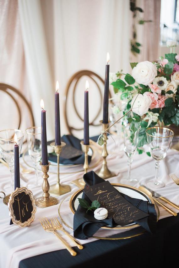 Romantic Pink And Black Wedding Decor Wedding Amp Party