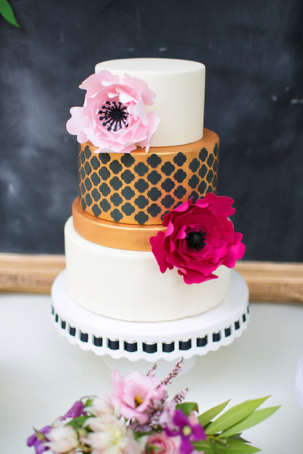 Wedding cake - A Bridal Shower of Paper Flowers