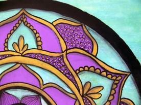 Mixed Media Mandala - Detail