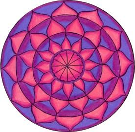 Purple and Pink Lotus Mandala