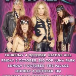 Live – STEEL PANTHER, Perth, Western Australia – 11 October 2012