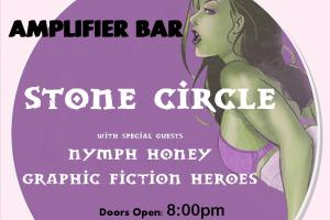 LIVE – STONE CIRCLE with Graphic Fiction Heroes & Nymph Honey, Perth WA, 1 June 2012