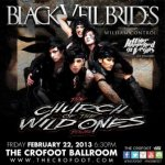 LIVE – Black Veil Brides, Pontiac, MI, February 22, 2013