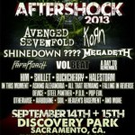Monster Energy's Aftershock Festival Featuring Avenged Sevenfold, Korn, Shinedown, Megadeth & Many More Set For Sept. 14 & 15