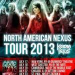 Swedish/Danish Modern Metal Sextet AMARANTHE Announces 2013 NORTH AMERICAN Headline Tour