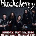 LIVE: BUCKCHERRY – May 4, 2014, Flint, MI @ The Machine Shop