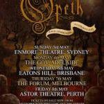 OPETH 'PALE COMMUNION' AUSTRALIAN TOUR 2015