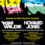 Kim Wilde & Howard Jones announce Australian Tour November 2016