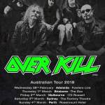 LIVE: OVERKILL, Perth – 4 Mar, 2018