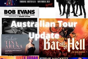AUSTRALIAN TOUR NEWS ROUNDUP – KEITH URBAN with BIRDS OF TOKYO, TINA ARENA, BAT OUT OF HELL, GUNS N' ROSES, STEVE HACKETT, BOB EVANS and THE SCREAMING JETS