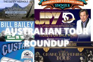 AUSTRALIAN TOUR NEWS ROUNDUP – BLUESFEST ALL AUSSIE EDITION, BILL BAILEY, HOODOO GURUS with THE DANDY WARHOLS, JOHN PAUL YOUNG, CUSTARD, POSTMODERN JUKEBOX