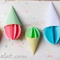 Мороженое из бумаги