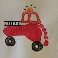 Рисунки отпечатками Пожарная безопасность