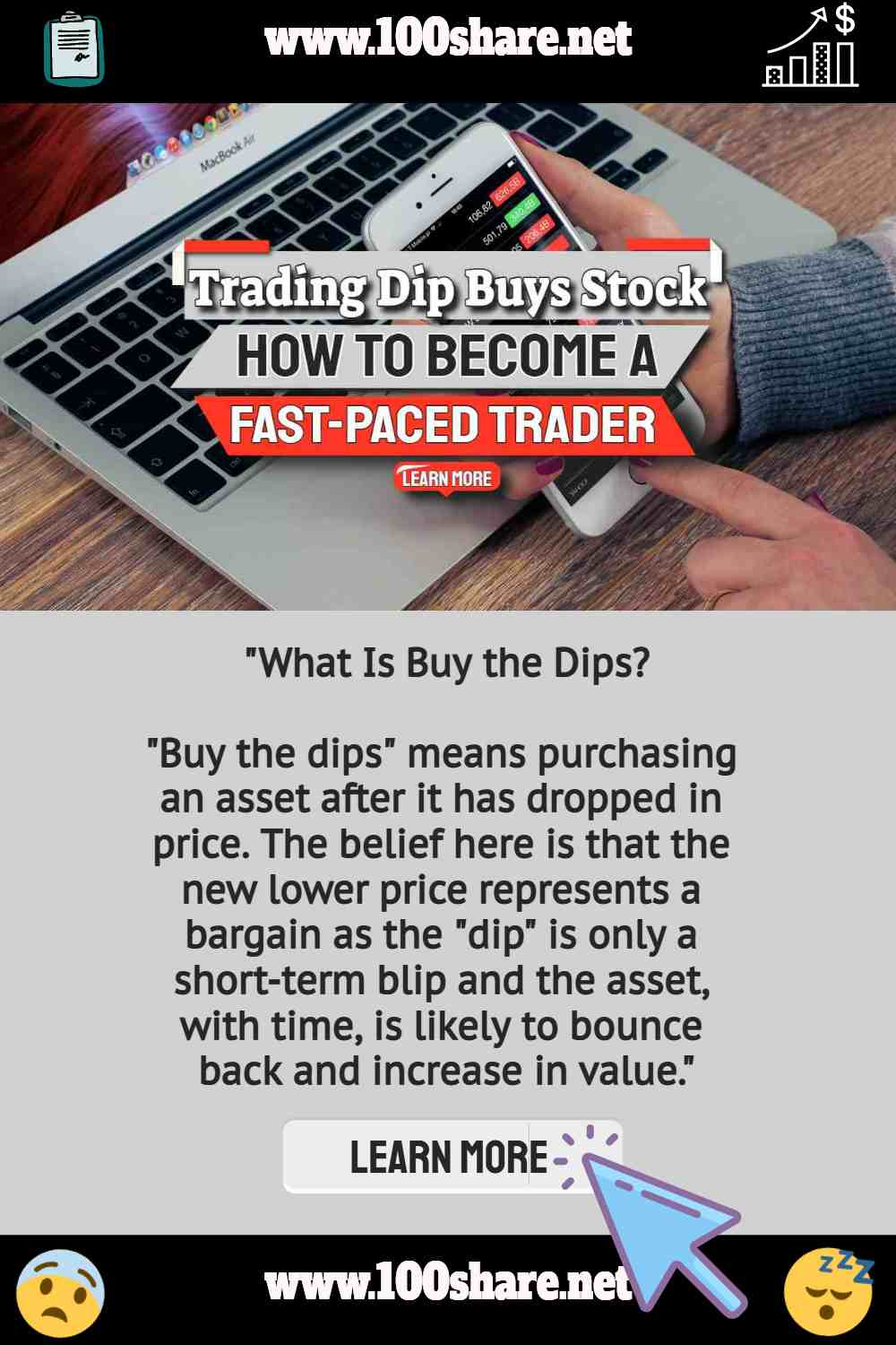 """Text: """"What is buy the dips stock trading""""."""