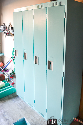 Vintage lockers, school lockers, metal lockers, bank of lockers, locker makeover