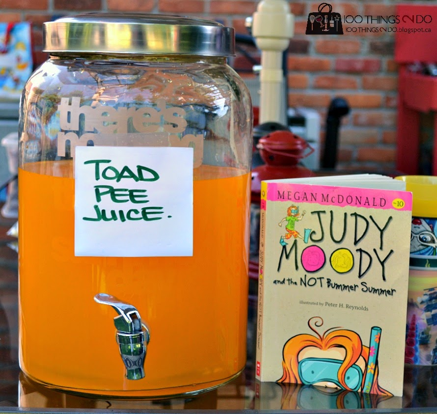 Kid's book club party - Judy Moody and the Not Bummer Summer