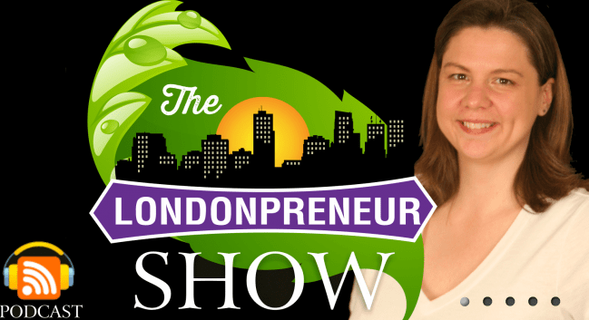 screen shot of the Londonpreneur show website