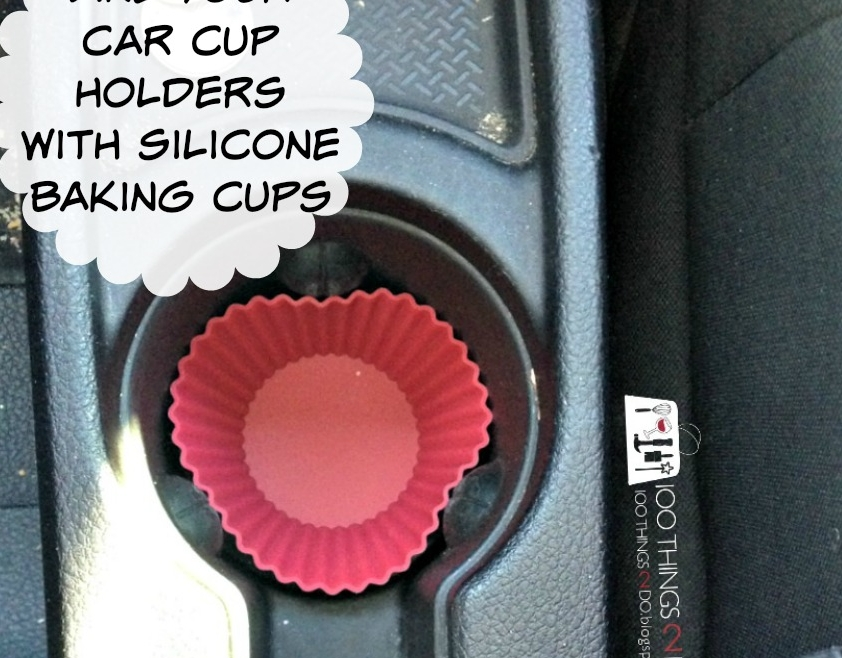 Clean car hack, keeping your car clean, lining your cup holder, clean cup holders, car hack