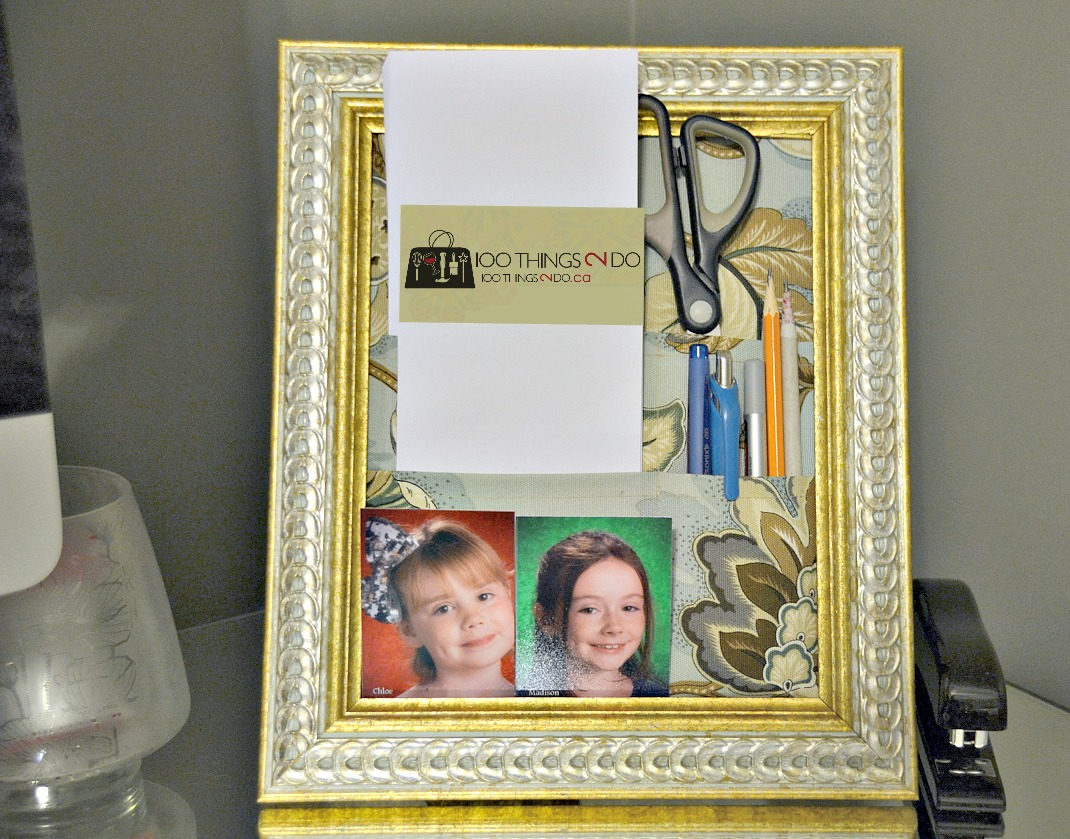 Repurpose an old frame to create an adorable desk organizer, desk organizer, desk stand, upcycled frame