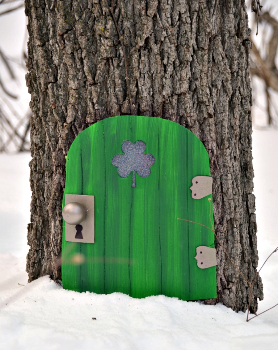 Create your own leprechaun door, Leprechaun door, Leprechaun house, St. Patrick's Day, St. Patty's Day