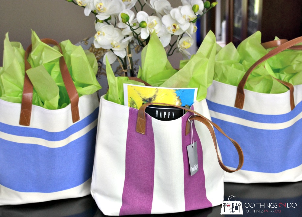 Mother's Day gift ideas - wrapped in a tote bag