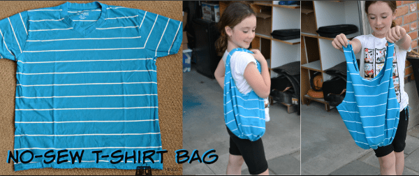 No-Sew t-shirt bag