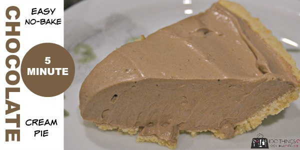 Easy, no-bake, chocolate cream pie