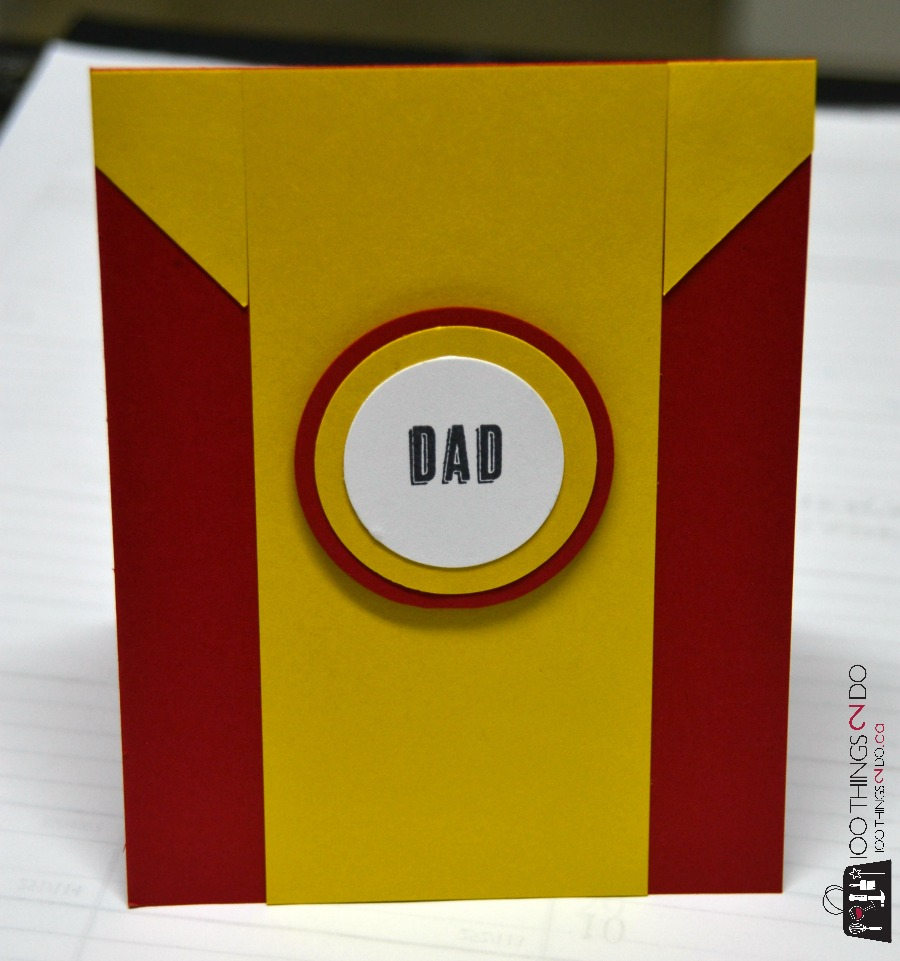 Superhero Father's Day cards - Iron Man