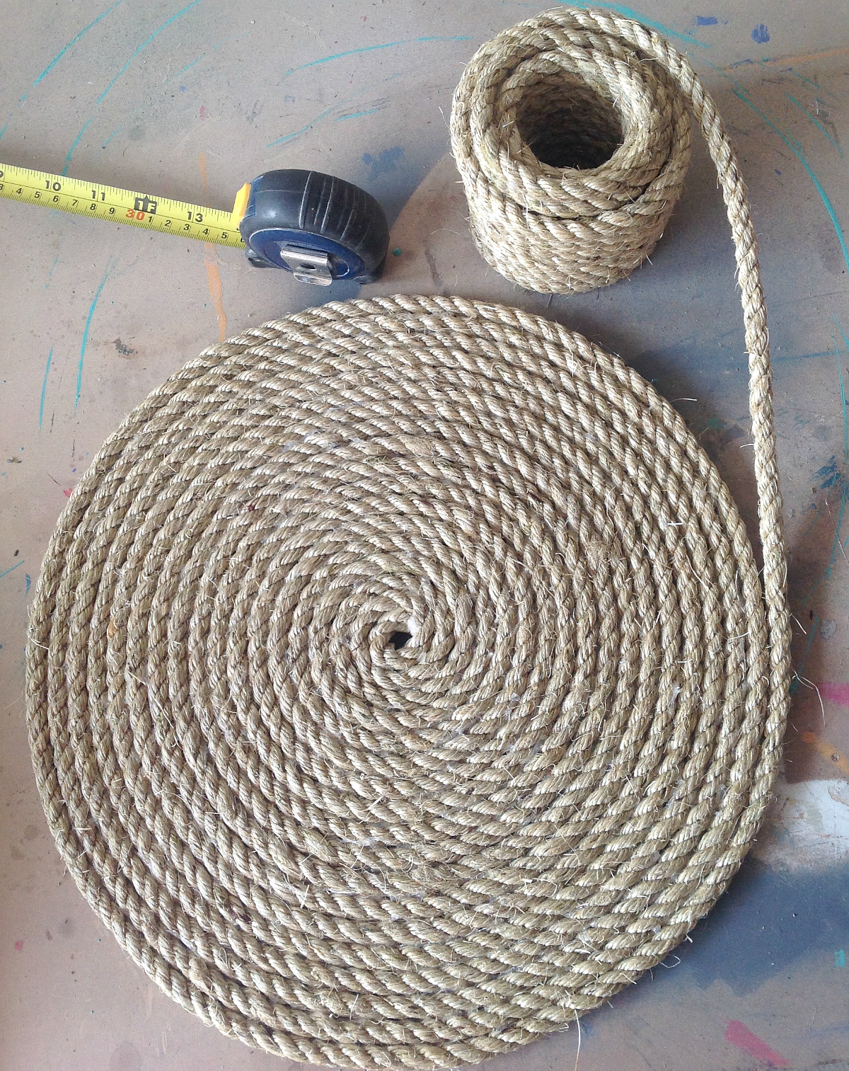 Diy sisal rope placemats 100 things 2 do for Sisal decoration