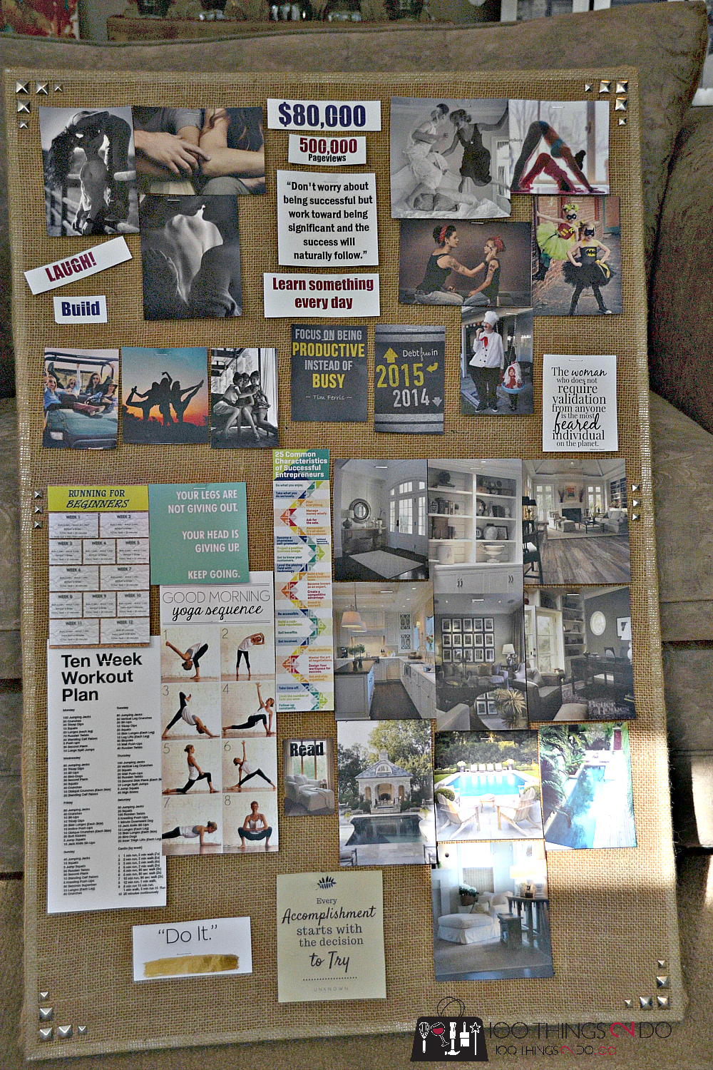 Create a vision board, make a vision board, what to put on your vision board, vision board