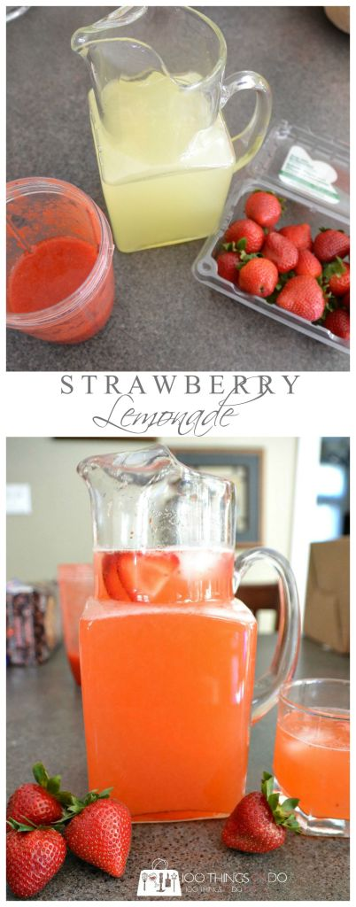 Summer Sipping - fresh strawberry lemonade