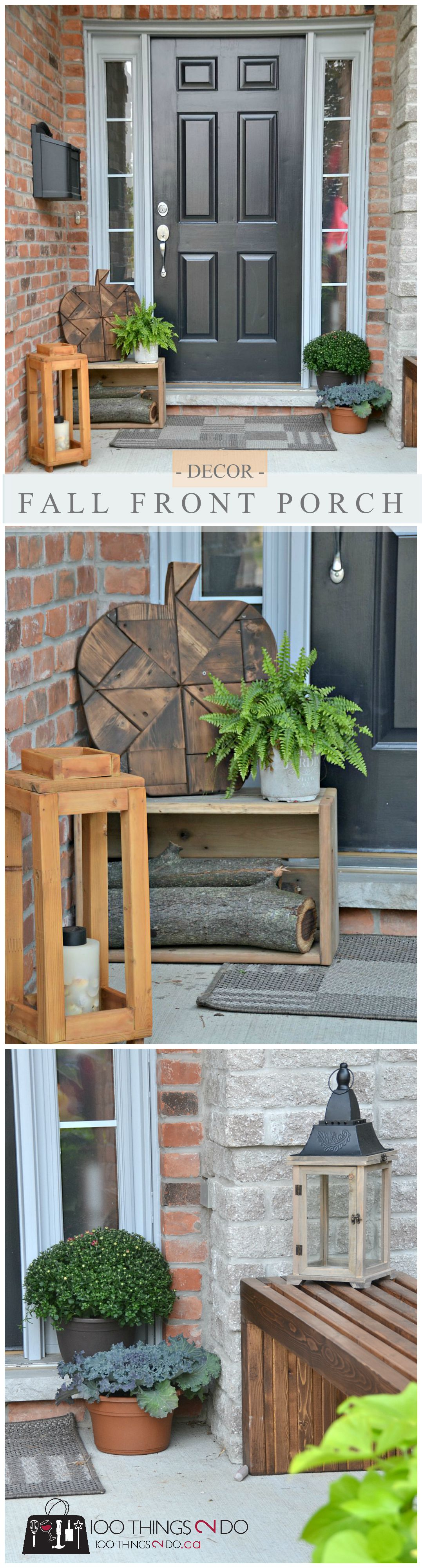 Front porch ideas - decorating for Fall