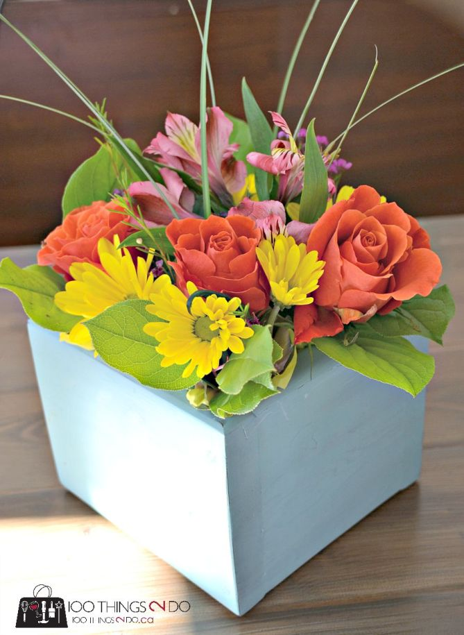 Indoor flower box for floral arrangements - compare to OliveandCocoa at $94!